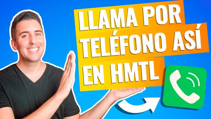 Cómo crear Link para Llamar por Teléfono (en HTML)